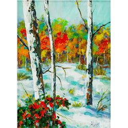 "Marilyn Hurst ""Early Snow"" Acrylic on Board"