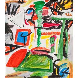 Pierre Gauvreau Canadian Modernist Oil Canvas 2001