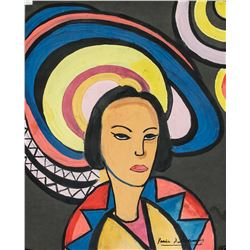 Sonia Delaunay French Orphist Gouache Paper