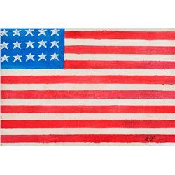 Jasper Johns American Pop Oil on Canvas