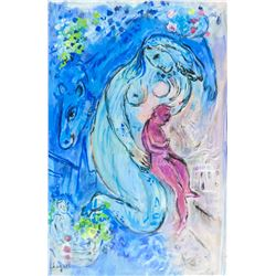 Marc Chagall Russian French Surrealist Gouache