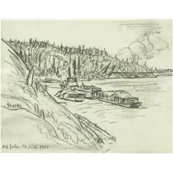 AY Jackson Canadian Group of VII Pencil 1928