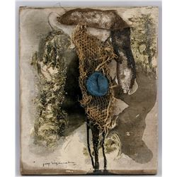 Jaap Wagemaker Dutch Abstract Mixed Media Canvas