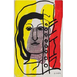 Fernand Leger French Cubist Oil on Canvas Portrait