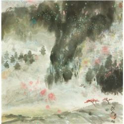 Ou Changzheng Chinese Watercolour on Paper Framed
