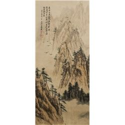 Shi Tao 1642-1707 Chinese Watercolor Landscape