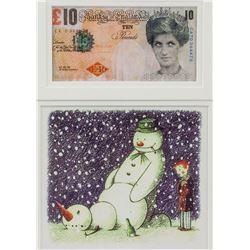 Banksy British Pop Banknote Tenner Rude Snowman