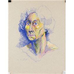 Rene Richard Swiss-Canadian Colored Pencil