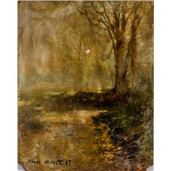 Old French Impressionist Oil signed Claude Monet