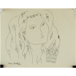 Henri Matisse French Fauvist Ink on Paper Signed