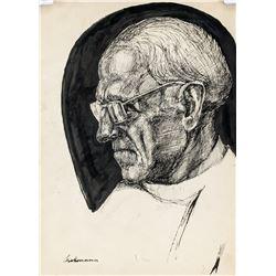 Max Beckmann German Expressionist Mixed Media