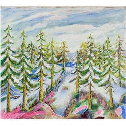 Scottish Oil on Canvas Landscape Signed Illegibly