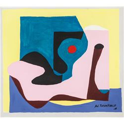 Ad Reinhardt American Abstract Oil on Canvas