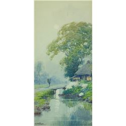 Japanese Watercolour on Paper Provenance
