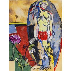 R. B. Kitaj American Expressionist Tempera Paper