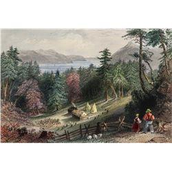 R. Wallis W.H. Bartlett Print on Paper Landscape