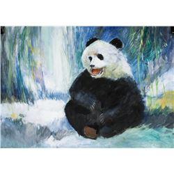 Robert Bateman Canadian Gouache on Paper Panda