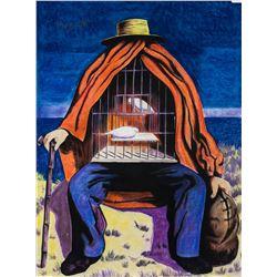 Rene Magritte Belgian Surrealist Pastel on Paper