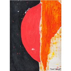 Max Ernst German Dadaist Oil on Canvas Composition
