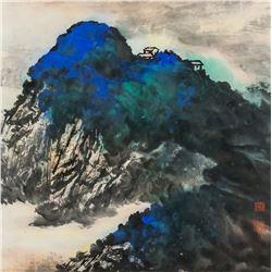 Zhang Daqian Chinese 1899-1983 Ink WC Landscape