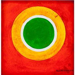Kenneth Noland American Modernist Oil Canvas 1975