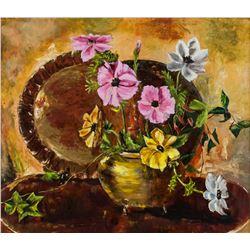 Anne Mann Canadian Oil on Board Still Life Flowers