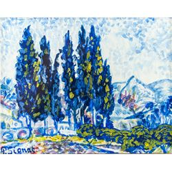 Paul Signac French Impressionist Oil on Paper