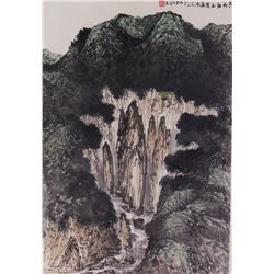 Hou Deqin Chinese Watercolour on Paper Landscape