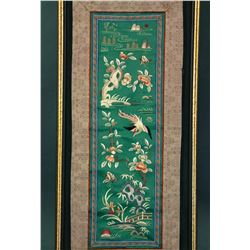 Chinese Embroidery Panel with Frame