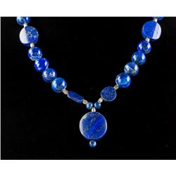 Chinese Fine Lapis Lazuli Carved Necklace
