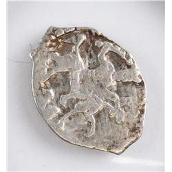 1533-1547 Russian Pskov Ivan IV Silver Denga Coin