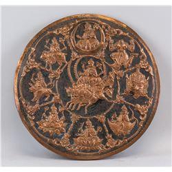 Tibetan Copper Deity Panel