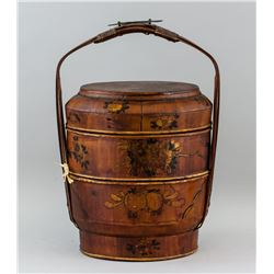 Chinese Wooden Two-Layer Food Basket