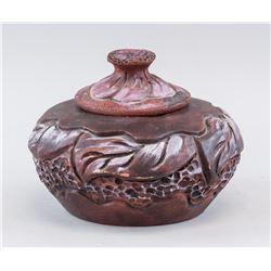 Modern Chinese Zisha Pottery Lotus Pot