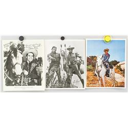 3 Assorted 1959 Long Ranger Autograph and Photos