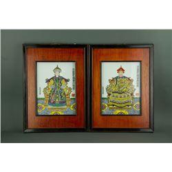 Porcelain Portrait Emperor & Empress Guangxu Mark