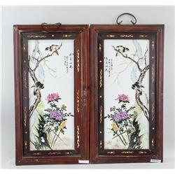 Liu Yucen Pair Chinese Porcelain Painting