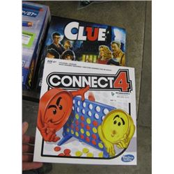 2 GAMES CONNECT 4 AND CLUE