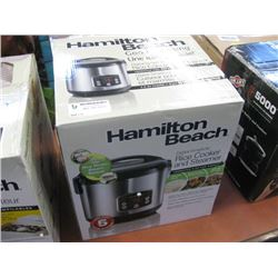 HAMILTON BEACH RICE COOKER AND STEAMER