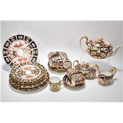 "Selection of Royal Crown Derby ""Imari 2451"" including four each of luncheon plates, side plates, dem"