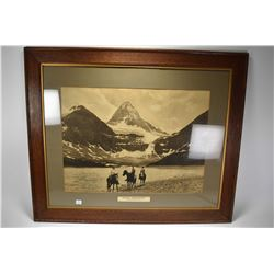 "Pair of vintage oak framed promotional photos of Canadian Pacific Railway including ""Banff Springs H"