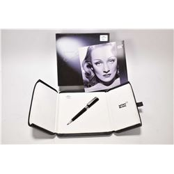 "Boxed Monte Blanc Special edition ""Marlene Dietrich"" ballpoint pen decorated with mother-of-pearl in"