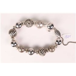 David Yurman sterling silver classic ball adjustable bracelet