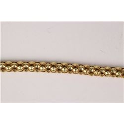 18kt yellow gold link chain necklace with push button clasp. Retail replacement value $1,515.00