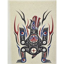 """Framed limited edition artist proof print labelled on verso """"Heiltsuk Bear"""" """"The Strength in Me"""" by"""