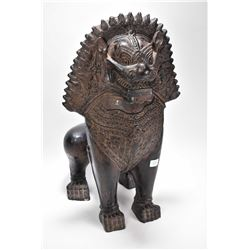 """Antique terracotta foo dog, 21"""" in height"""
