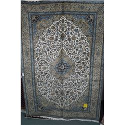 Brand new 100% hand made Iranian Kashan area carpet with center medallion, overall floral design in