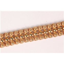 19kt (stamped 800) rose gold mesh design bracelet with slip lock box clasp. Retail replacement value