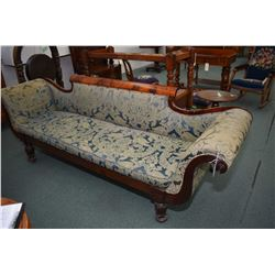 Antique Regency style mahogany framed full sized sofa