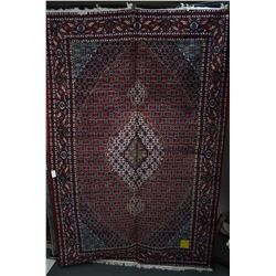 Brand new Iranian 100% hand made Tabriz wool blend area carpet with center medallion with busy overa